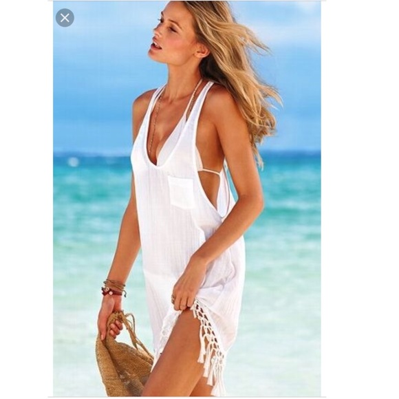 84c677cfb726a Victoria s Secret Boho White Beach Coverup